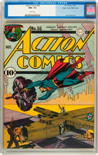 Action Comics #55 Mile High pedigree (DC, 1942) CGC NM+ 9.6 White pages