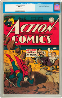 Action Comics #92 Mile High pedigree (DC, 1946) CGC NM 9.4 Off-white to white pages