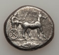 Ancients:Greek, Ancients: SICILY. Messana. 470-466 BC. AR tetradrachm (17.07 gm)....