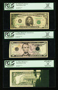 Error Notes:Error Group Lots, Fr. 1975-D $5 1977A Federal Reserve Note. PCGS Apparent Very Fine25; Fr. 1978-C $5 1985 Federal Reserve Note. PCGS Apparent V...(Total: 3 notes)
