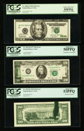 Error Notes:Error Group Lots, Fr. 2067-D $20 1969 Federal Reserve Note. PCGS About New 53PPQ; Fr.2072-D $20 1977 Federal Reserve Note. PCGS About New 50PPQ...(Total: 3 notes)