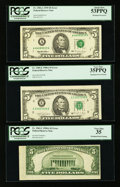 Error Notes:Error Group Lots, Fr. 1962-C $5 1950A Federal Reserve Note. PCGS Very Fine 35;. Fr.1980-E $5 1988A Federal Reserve Note. PCGS Very Fine 35PPQ;...(Total: 3 notes)