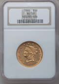 Liberty Eagles: , 1868 $10 AU58 NGC. NGC Census: (24/1). PCGS Population (4/1).Mintage: 10,665. Numismedia Wsl. Price for problem free NGC/P...