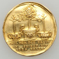 German States:Hamburg, German States: Hamburg. Free City gold Medal in 2 Ducat Weight ND,...