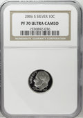Proof Roosevelt Dimes: , 2006-S 10C Silver PR70 Deep Cameo NGC....