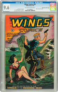 Golden Age (1938-1955):Adventure, Wings Comics #69 Mile High pedigree (Fiction House, 1946) CGC NM+ 9.6 Off-white to white pages....