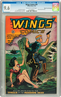 Wings Comics #69 Mile High pedigree (Fiction House, 1946) CGC NM+ 9.6 Off-white to white pages