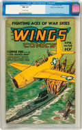 Golden Age (1938-1955):War, Wings Comics #56 Mile High pedigree (Fiction House, 1945) CGC NM9.4 Off-white pages....