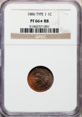 Proof Indian Cents, 1886 1C Type One PR66 ★ Red and Brown NGC....