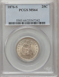 Seated Quarters, 1876-S 25C MS64 PCGS....