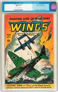 Golden Age (1938-1955):War, Wings Comics #59 Mile High pedigree (Fiction House, 1945) CGC NM+9.6 Off-white to white pages....