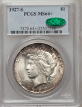 Peace Dollars, 1927-S $1 MS64+ PCGS. CAC....
