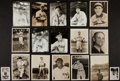 Autographs:Photos, Baseball Greats Vintage Photograph Collection Of 17 IncludingGehrig and Ott. ...