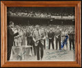 Baseball Collectibles:Photos, New York Yankees Greats Multi Signed Photograph....