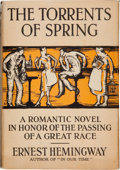 Books:Literature 1900-up, Ernest Hemingway. The Torrents of Spring. New York: CharlesScribner's Sons, 1926. First edition. Octavo. [viii]...