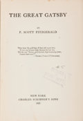 Books:Literature 1900-up, F. Scott Fitzgerald. The Great Gatsby. New York: CharlesScribner's Sons, 1925. First edition, first printing, meeti...