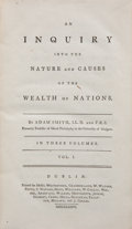 Books:Business & Economics, Adam Smith. An Inquiry into the Nature and Causes of the Wealthof Nations. In Three Volumes. Dublin: Printed for Me... (Total:3 Items)