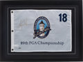 Golf Collectibles:Autographs, Tiger Woods Signed Upper Deck Authenticated Flag. ...