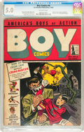 Golden Age (1938-1955):Crime, Boy Comics #6 (Lev Gleason, 1942) CGC VG/FN 5.0 Off-white pages....