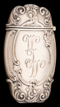Silver Smalls:Match Safes, A BATTIN SILVER COMBINATION MATCH SAFE AND PICTURE HOLDER . Battin& Co., Newark, New Jersey, circa 1900. Marks: STERLING...