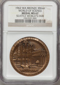 Expositions and Fairs, 1962 Seattle World's Fair, World of Science MS67 NGC. Bronze, 39mm. Washington....