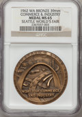 Expositions and Fairs, 1962 Seattle World's Fair, Commerce & Industry MS65 NGC.Bronze, 39mm. Washington....