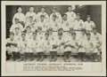 Baseball Collectibles:Photos, 1934 Detroit Tigers Multi Signed Photograph....