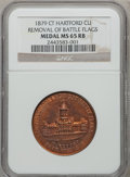 Expositions and Fairs, 1879 Hartford, Connecticut Medal MS65 Red and Brown NGC. Copper. Removal Of Battle Flags....