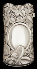 Silver Smalls:Match Safes, A WHITING SILVER MATCH SAFE . Whiting Manufacturing Company, NewYork, New York, circa 1890. Marks: (W-griffin), STERLING,...