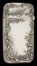 Silver Smalls:Match Safes, A WALLACE SILVER AND SILVER GILT MATCH SAFE . Wallace Silversmiths,Inc., Wallingford, Connecticut, circa 1900. Marks: (stag...