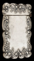 Silver Smalls:Match Safes, AN AMERICAN SILVER MATCH SAFE . Maker unknown, American, circa1900. Marks: STERLING . 2-5/8 inches high (6.7 cm). .8 tr...