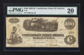 Confederate Notes:1862 Issues, Circular Mississippi Stamp T40 $100 1862.. ...