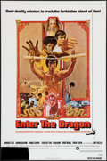 "Movie Posters:Action, Enter the Dragon (Warner Brothers, 1973) Flat Folded. One Sheet(27"" X 41""). Action.. ..."