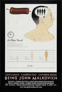 """Being John Malkovich (USA Films, 1999). One Sheet (27"""" X 40""""). DS Style B. Comedy"""