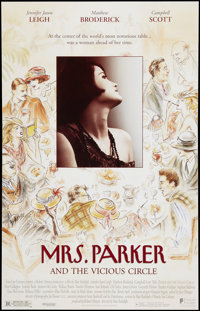 "Mrs. Parker and the Vicious Circle (New Line, 1994). One Sheet (27"" X 40.25""). SS. Drama"
