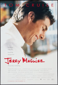 "Jerry Maguire (Tri-Star, 1996). One Sheet (26.75"" X 39.75""). DS Advance. Drama"