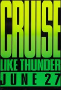 """Movie Posters:Sports, Days of Thunder (Paramount, 1990). One Sheet (27"""" X 40"""") Advance. Sports.. ..."""