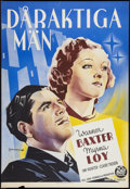 "Movie Posters:Romance, To Mary - with Love (20th Century Fox, 1936). Swedish One Sheet (27"" X 39.25""). Romance.. ..."