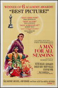 "Movie Posters:Academy Award Winners, A Man For All Seasons (Columbia, 1966). One Sheet (27"" X 41"") StyleC, Academy Awards Style. Drama.. ..."