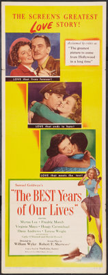 "The Best Years of Our Lives (RKO, 1946). Insert (14"" X 36""). Drama"