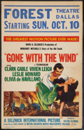"Movie Posters:Academy Award Winners, Gone with the Wind (MGM, R-1954). Window Card (14"" X 22""). AcademyAward Winners.. ..."