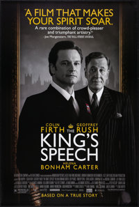 """The King's Speech (Classic Pictures, 2010). One Sheet (27"""" X 40"""") DS. Drama"""