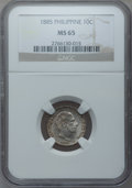 Philippines, Philippines: Alfonso XII 10 Centimos 1885, ...