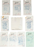 Movie/TV Memorabilia:Memorabilia, A Marilyn Monroe Group of Delivery Receipts, 1962.... (Total: 5Items)