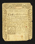 Colonial Notes:Connecticut, Connecticut July 1, 1780 10s Slash Cancel Fine-Very Fine.. ...