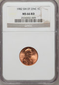 Lincoln Cents, 1982 1C Small Date MS66 Red NGC. NGC Census: (0/0). PCGS Population(309/316). Numismedia Wsl. Price for problem free NGC/...