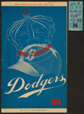 Baseball Collectibles:Others, 1956 Sal Maglie Signed Program and Ticket Stub from No Hitter....