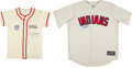 Baseball Collectibles:Uniforms, Bob Feller and Enos Slaughter Signed Jerseys Lot of 2....
