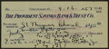 Baseball Collectibles:Others, 1957 Eppa Rixey Signed Check. ...