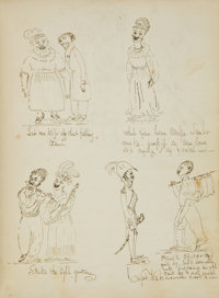 [Anonymous]. Extraordinary New England Album of Original Prose, Poetry, and Sketches, Circa 1826-1830. Approximately